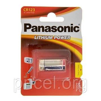 Батарейка Panasonic CR 123 BLI 1 LITHIUM (CR-123AL/1BP)