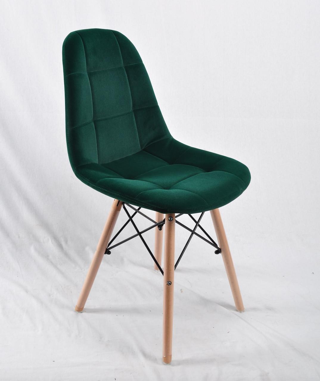 Стул Питер PETER зеленый бархат на буковых ножках