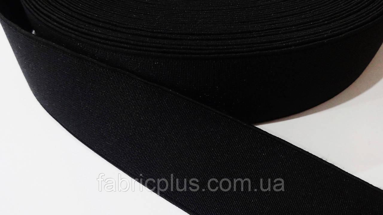 Резинка 4 см черная плотная