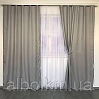Однотонные шторы из льна в комнату спальню дом квартиру, шторы блэкаут для зала спальни гостинной, шторы, фото 4