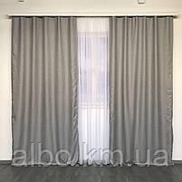 Однотонні штори з льону в кімнату спальню будинок квартиру, штори блекаут для залу спальні вітальні, штори блекаут в зал спальню, фото 2