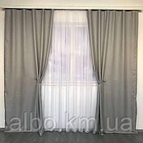 Однотонные шторы из льна в комнату спальню дом квартиру, шторы блэкаут для зала спальни гостинной, шторы, фото 3