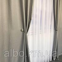 Однотонні штори з льону в кімнату спальню будинок квартиру, штори блекаут для залу спальні вітальні, штори блекаут в зал спальню, фото 5