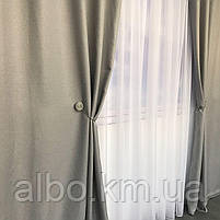 Однотонные шторы из льна в комнату спальню дом квартиру, шторы блэкаут для зала спальни гостинной, шторы, фото 5