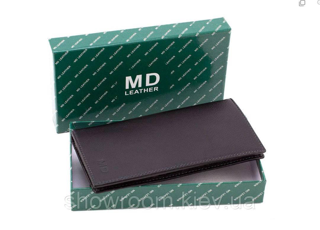 Бумажник удобный мужской (8102) кожаный черный
