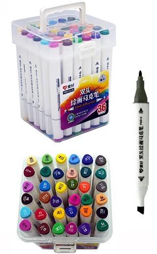 Набор скетч-маркеров Aihao 36 цветов, трехгранный корпус