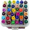 Набор скетч-маркеров Aihao 36 цветов, трехгранный корпус, фото 2