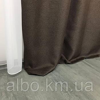 Штори в кафе Блекаут ALBO 150x270 cm (2 шт) Коричневі (SH-M5-6)