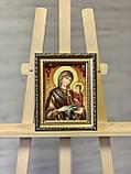 Ікона іменна з бурштина св. Анна 15x20  см, фото 3