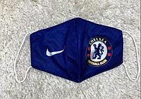 Маска для лица клубная Челси Chelsea тканевая 2-х слойная, многоразовая