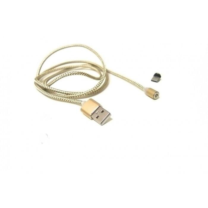 Магнитный кабель USB type C Magnetic USB Cable в оплётке Золотой