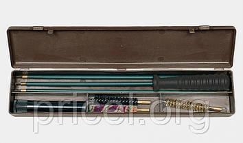 Набор для чистки оружия MegaLine 08/50022. кал. 22. шомпол в оплетке. 2 ёршика. шерстяная пуховка. пласт.