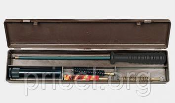 Набор для чистки оружия MegaLine 08/50007. кал. 7. шомпол в оплетке. 2 ёршика. шерстяная пуховка. пласт.