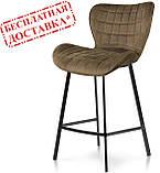 Полубарный стул B-22 капучино велюр Vetro Mebel (бесплатная доставка), фото 2
