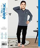Детская Пижама теплая флис для мальчиков оптом р.6-9 лет, фото 2