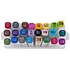 Набір скетч-маркерів Aihao 24 кольорів, тригранний корпус