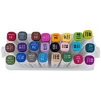 Набір скетч-маркерів Aihao 24 кольорів, тригранний корпус, фото 1