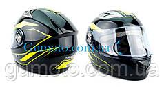 Шлем для мотоциклов Hel-Met F2-830 черный глянец Neon Размер M/L