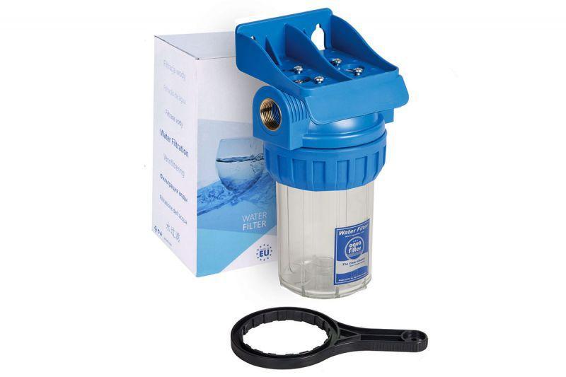 """Aquafilter Трьохелементний корпус фільтра 5"""" FHPR5-1-WB в наборі"""