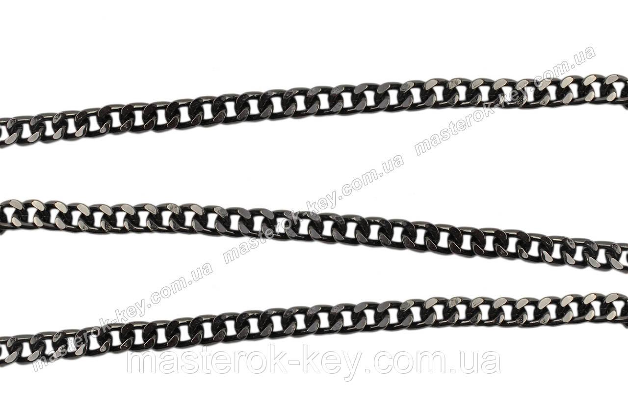 Ланцюжок для сумки метражні 65-273 Темний колір-нікель