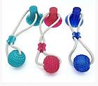 ОПТ ОПТ Іграшка для домашніх тварин, м'яч на мотузці з присоском, фото 2