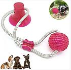 ОПТ ОПТ Іграшка для домашніх тварин, м'яч на мотузці з присоском, фото 3