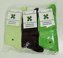 Женские носки Харкiвськi Шкарпетки Бордово-зеленый арт.105-05 (уп. 10 пар)