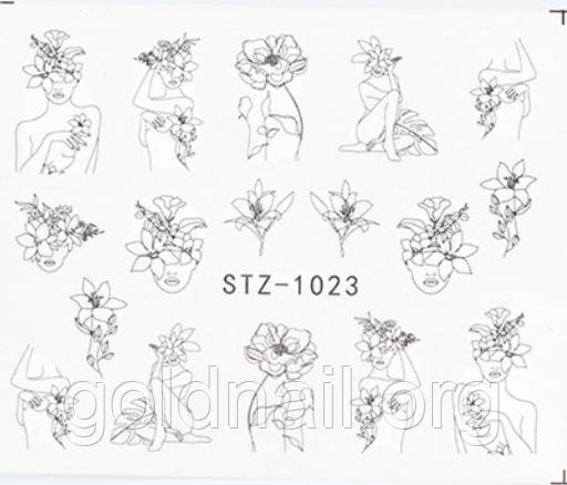 Слайдер водный для дизайна ногтей STZ-1023