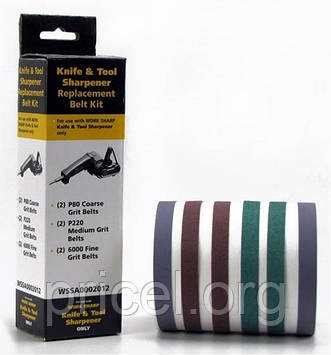 Запасные ленты WSKTS ASSORTED BELT KIT (6 лент) к точилке Darex Work Sharp (WSSA0002012)