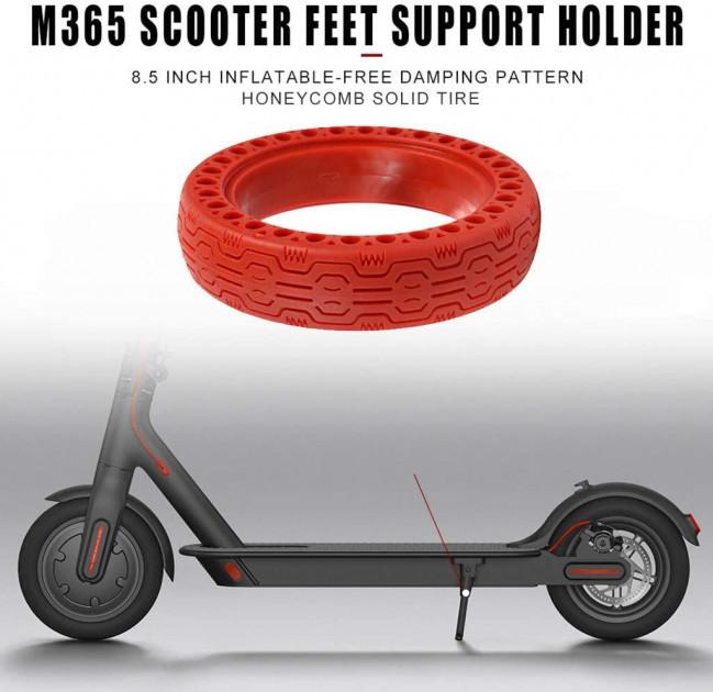 Maxfield / Литая бескамерная шина для Xiaomi Mijia Electric Scooter m365 с перфорацией Красная