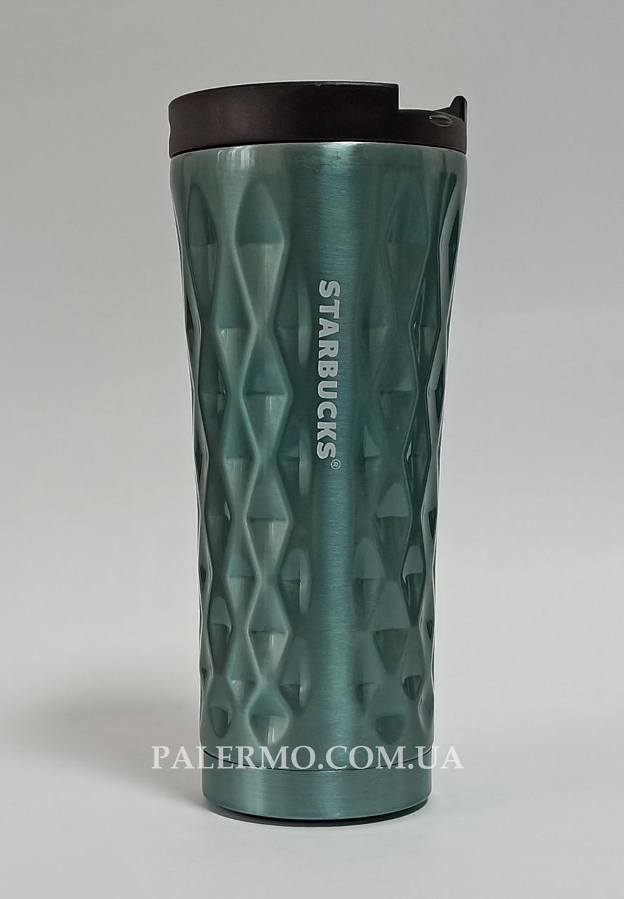Термокружка 500 мл Starbucks Старбакс Diamond голубая термочашка термостакан