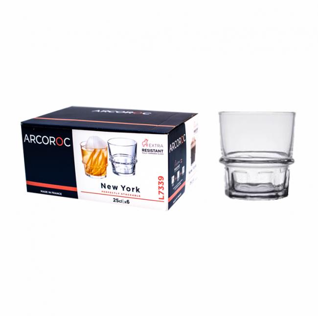 Набор стаканов низких Arcoroc New York  250мл 6 шт.