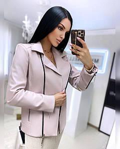 Стильная женская куртка из экокожи на замше 42-44 р