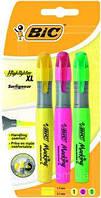Набор маркеров текстовых 3 цвета BIC Highlighter XL, фото 1