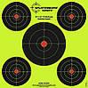 Мишень для стрельбы флюрисцентная Splatterburst 30х30 см (12x12 дюймов) Бычьи глаза, фото 2