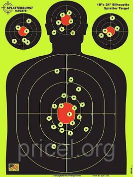 Грудная мишень для стрельбы флюрисцентная Splatterburst 30х45 см (12x18 дюймов)