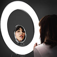 Кольцевая светодиодная лампа для селфи 36 см RGB со штативом на 2м