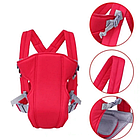 ОПТ Слинг-рюкзак для переноски ребенка Baby Carriers рюкзак-кенгуру сумка кенгуру от 3 до 12 месяцев красный, фото 3