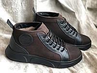 Зимние мужские сапоги кожаные Milychi 820 кор размеры 41,42,43, фото 1