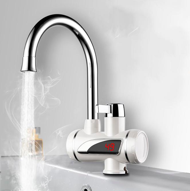 Нагреватель электрический DELIMANO, проточный нагреватель для воды с индикатором (нижнее подключение)