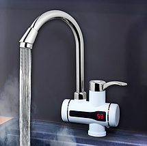 Нагреватель электрический DELIMANO, проточный нагреватель для воды с индикатором (нижнее подключение), фото 3