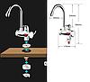 Нагреватель электрический DELIMANO, проточный нагреватель для воды с индикатором (нижнее подключение), фото 5