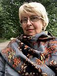 Рябина 352-27, павлопосадский платок шерстяной  с шерстяной бахромой, фото 5
