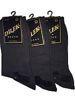 Носки мужские без шва хлопок Dilek 39-41 темно серые, фото 1
