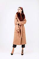 Элегантное люсковое зимнее пальто из шерсти, фото 1
