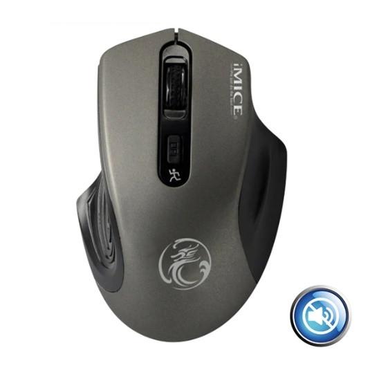 Беспроводная компьютерная мышь iMice E-1800 2000 DPI Тихая Серый
