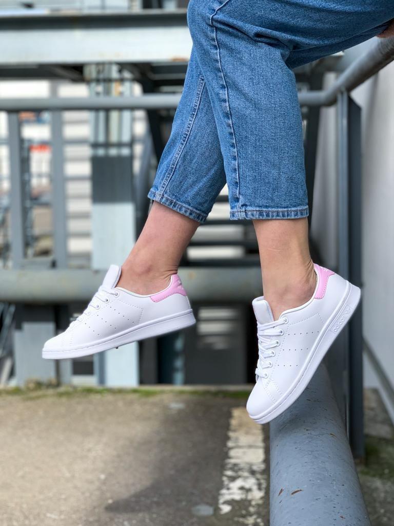 Кроссовки Adidas Stan Smith Реплика р.40 White Pink (hub_zs8kxm)