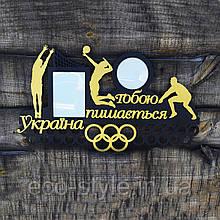 Медальница волейбол, Полка для медалей волейболисту, Холлдер для медалей