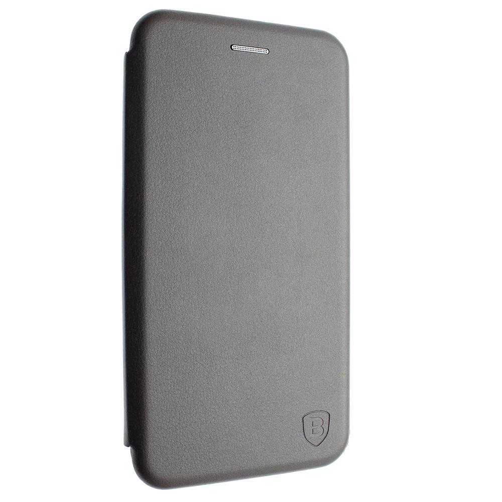 Чехол-книжка для Xiaomi Redmi 6 цвет Серебро, кожаный