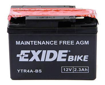 Аккумулятор сухозаряженный AGM 2,3Ah 35A EXIDE ETR4A-BS = YTR4A-BS
